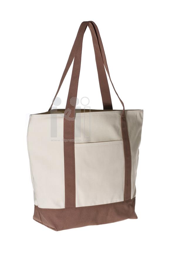 กระเป๋าผ้าดิบทรงตัดต่อผ้า600D