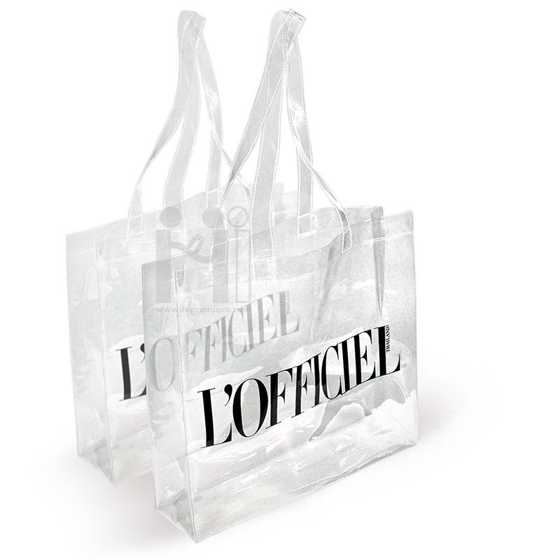กระเป๋าพีวีซีใส กระเป๋าช้อปปิ้งพลาสติก PVC