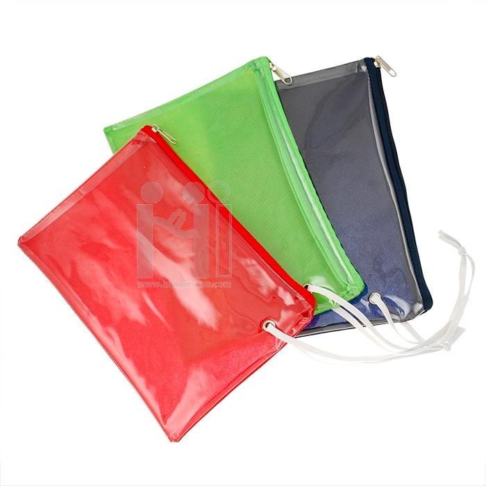 กระเป๋าผ้าสลับพีวีซี กระเป๋าใส่เครื่องเขียน กระเป๋าอเนกประสงค์