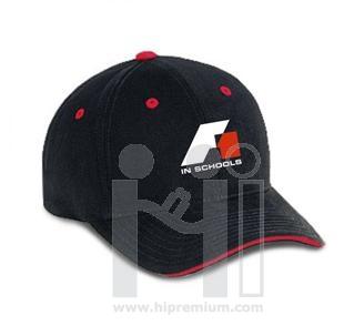 หมวกแก๊ปสีเดียว ปีกหมวกแซนวิช ผ้าคอตตอนพีช