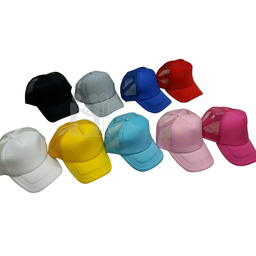 หมวกแก๊ปตาข่ายสีเดียว หมวกสต๊อก หมวกงานด่วน