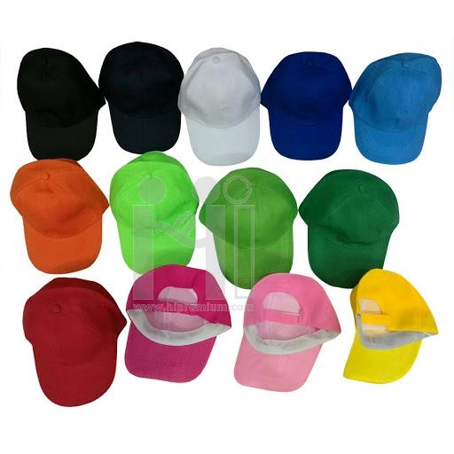 หมวกแก๊ปสีเดียว หมวกสต๊อกสำเร็จรูป <br>หมวกงานด่วนขั้นต่ำ50ใบ