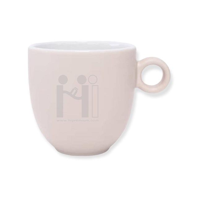 แก้วมัก แก้วกาแฟเซรามิกมัค แก้ว mug สีขาวสกรีนโลโก้