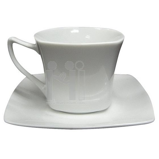 ชุดแก้วกาแฟพร้อมจานรองแก้ว แก้วกาแฟ พรีเมี่ยม