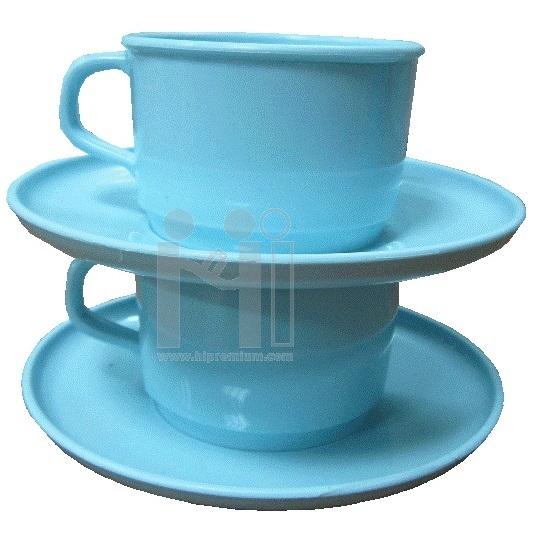 ชุดแก้วกาแฟพร้อมจานรองแก้วสต๊อก