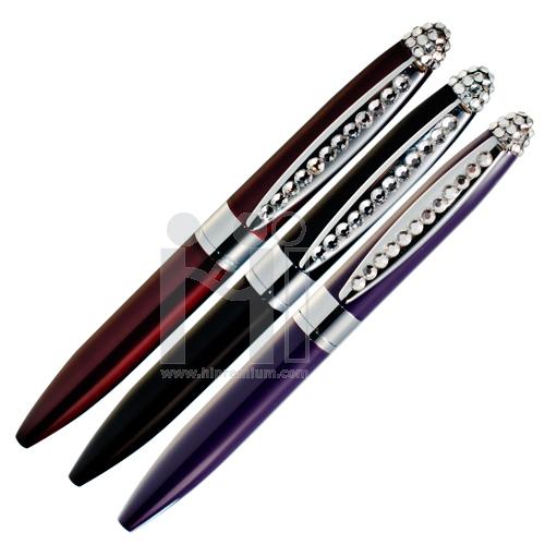 ปากกาคริสตัลแท้เกรดเอ สกรีนโลโก้