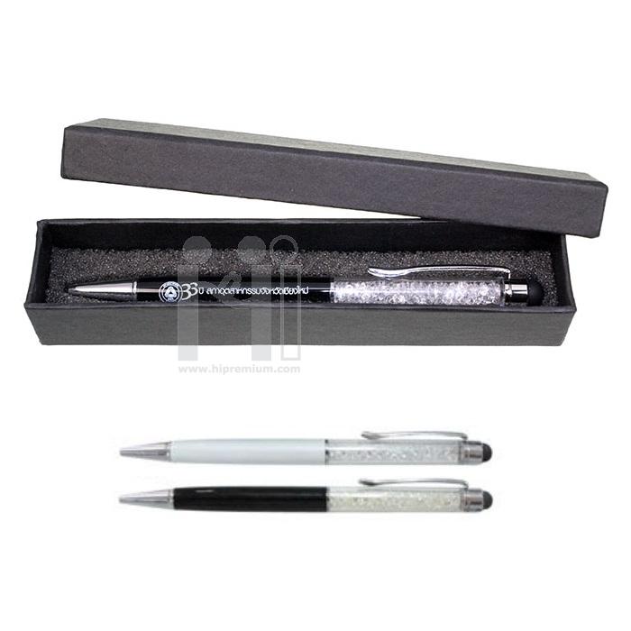 ชุดกล่องของขวัญปากกาคริสตัลเทียมพร้อมTouch Screenใช้สัมผัสหน้าจอปากกางานด่วนสต๊อกขั้นต่ำ100ชุด