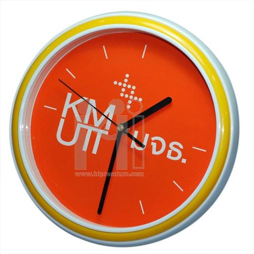 นาฬิกาแขวนกลม 10  นิ้ว ขอบสีทูโทน