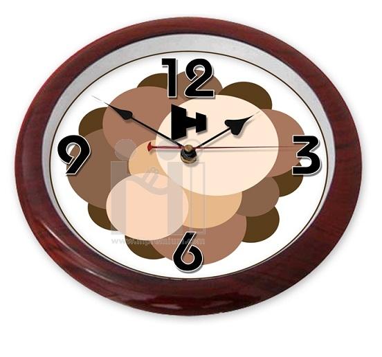 นาฬิกาแขวนกลม 10  นิ้ว ขอบลายไม้