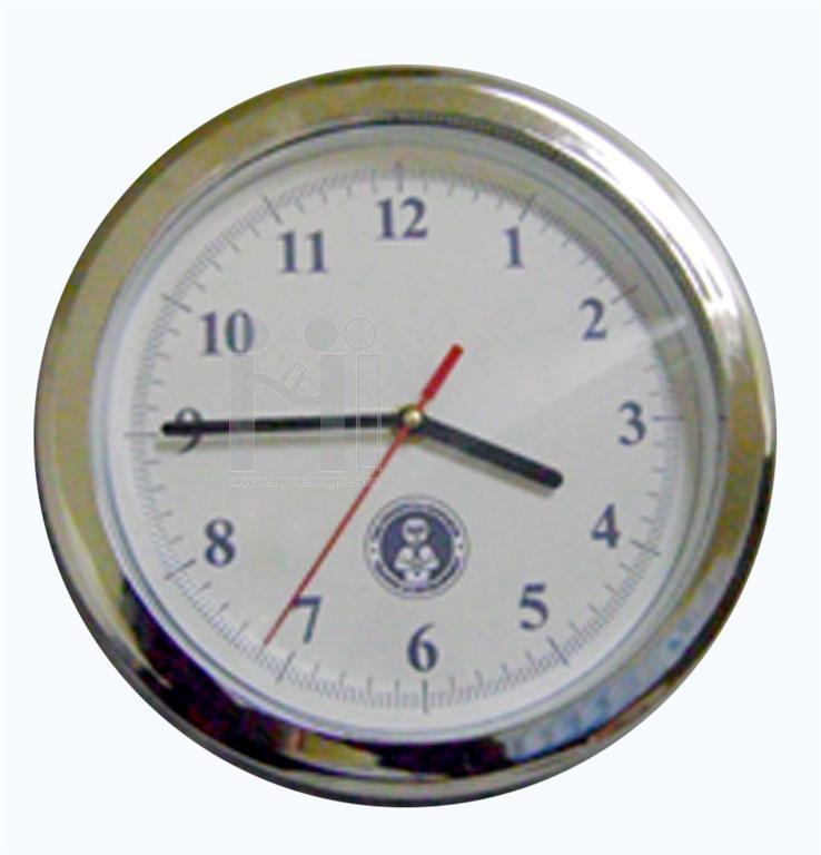 นาฬิกาแขวนผนัง  9  นิ้ว ขอบหนา ขอบชุบเงิน,ชุบทอง