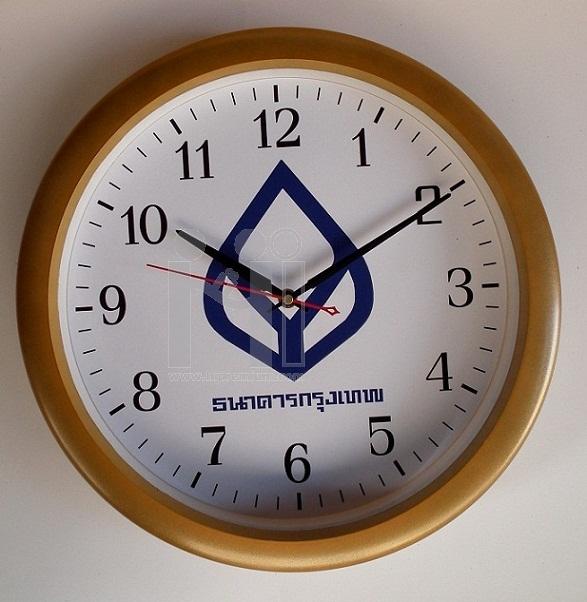 นาฬิกาแขวนผนังใหญ่ 15 นิ้ว ขอบทองด้าน