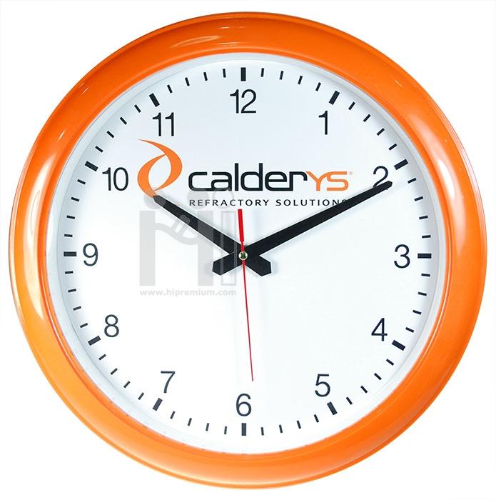 นาฬิกาแขวนผนังทรงกลม  13  นิ้ว ขอบพลาสติก