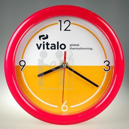 นาฬิกาแขวนผนังทรงกลม  8  นิ้ว ขอบพลาสติกนิ่มขนาดเล็ก