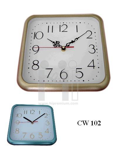 นาฬิกาแขวนสี่เหลี่ยม  10  นิ้ว ขอบพ่นทราย
