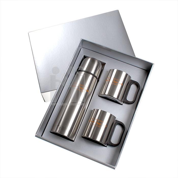 ชุดเซ็ตกล่องกระบอกน้ำสูญญากาศและแก้ว