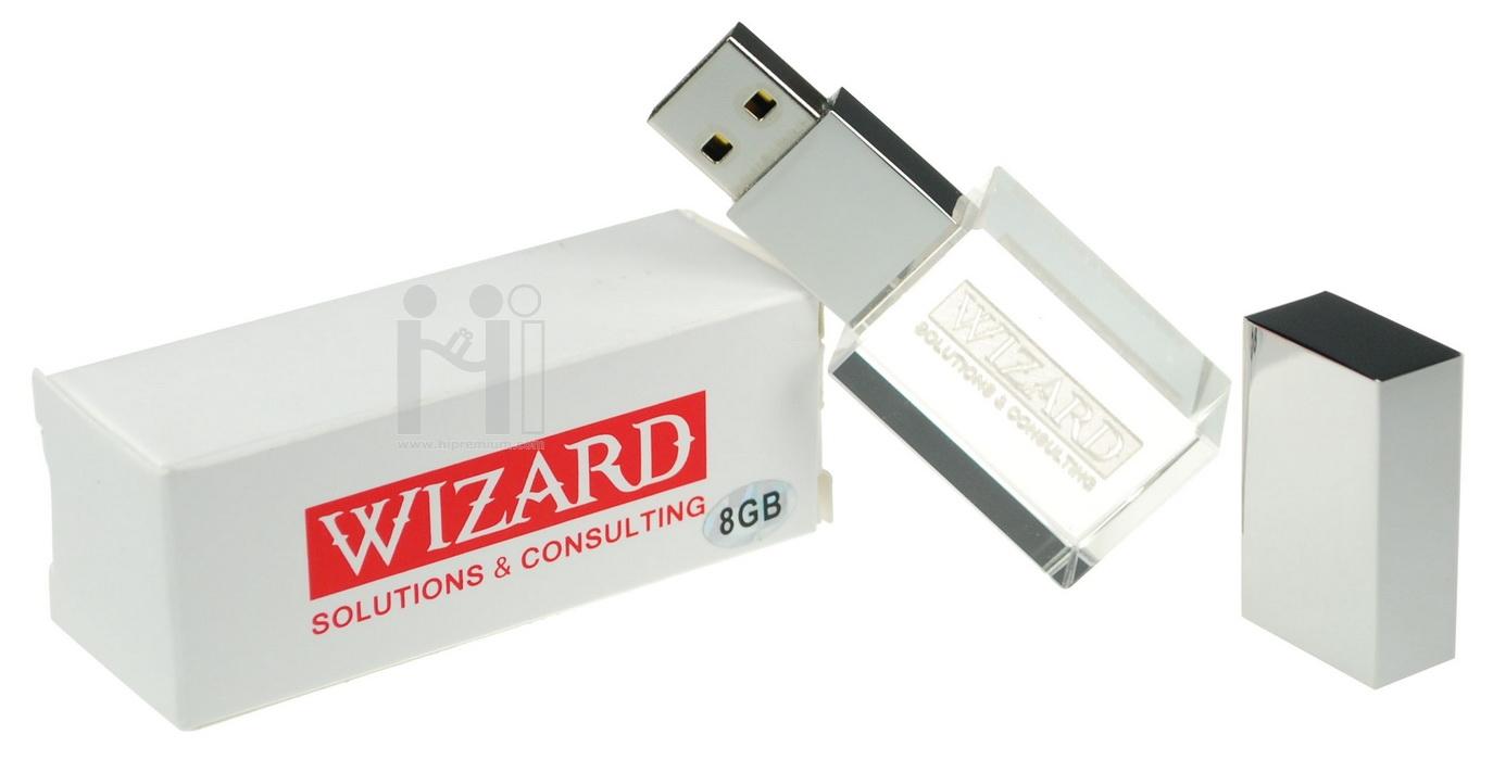 แฟลชไดร์ฟคริสตัล Wizard Solutions & Consulting Co., Ltd.