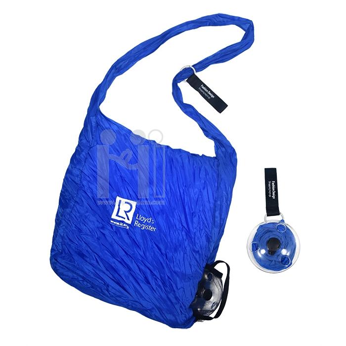 ถุงผ้าช้อปปิ้งม้วนเก็บได้ Shopping bag to roll up