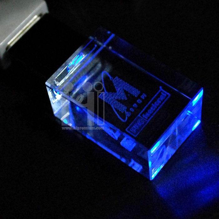 แฟลชไดร์ฟแก้วคริสตัลใส3มิติ บริษัท ไซท์ เพรพพาเรชั่น แมเนจเมนท์