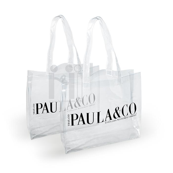 กระเป๋าช้อปปิ้งพลาสติก PVC