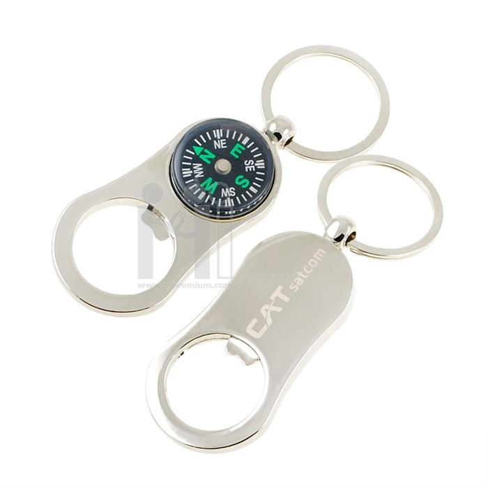 พวงกุญแจที่เปิดขวด พร้อมเข็มทิศ