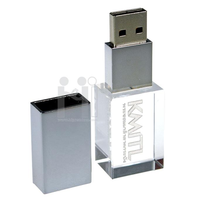 3D crystal USB flash drive สถาบันเทคโนโลยีพระจอมเกล้าเจ้าคุณทหารลาดกระบัง