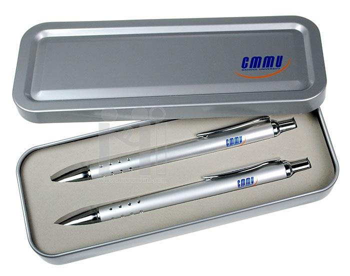 ชุดกล่องปากกาโลหะ