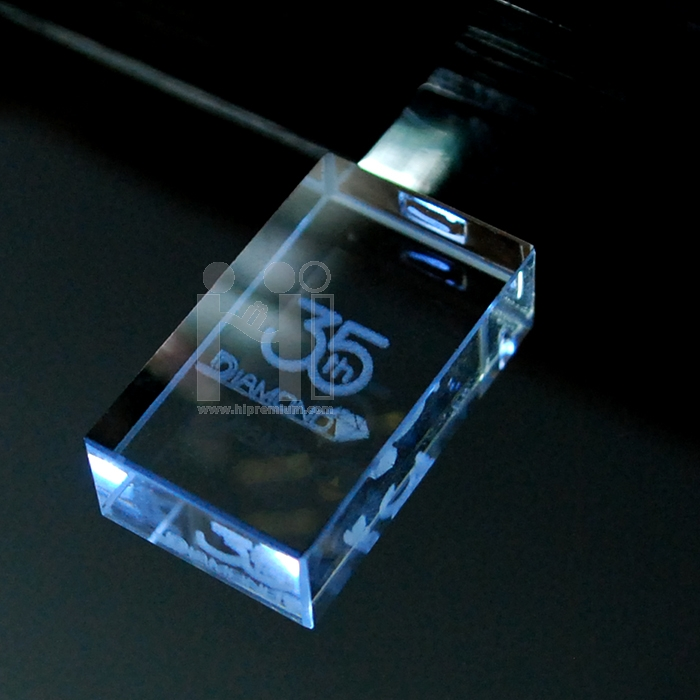 3D crystal USB flash drive