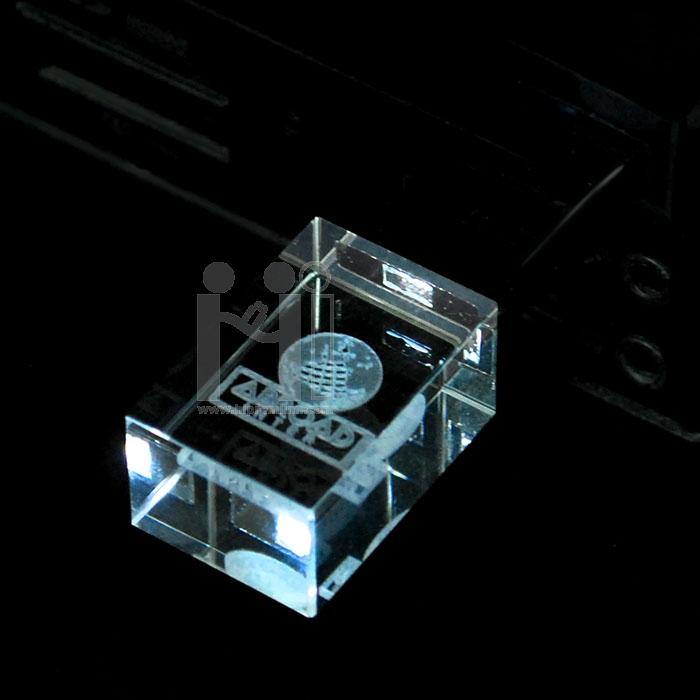 แฟลชไดร์ฟแก้วคริสตัลใส3มิติ