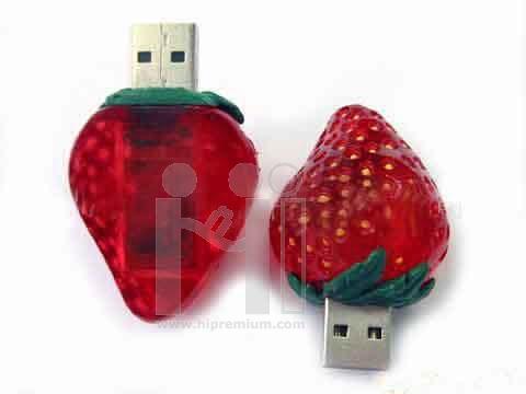 USB Flash Drive แฟลชไดร์ฟรูปสตรอเบอรี่