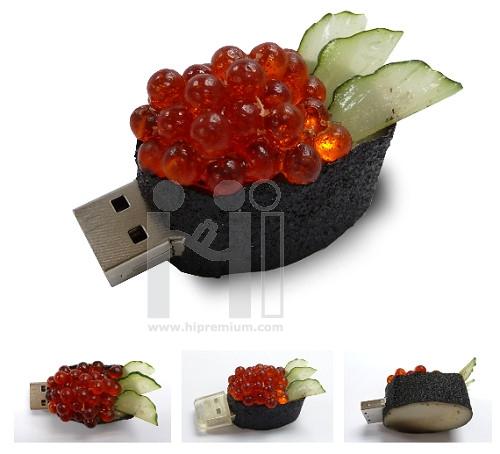 USB Flash Drive แฟลชไดร์ฟรูปซูชิไข่ปลาคาเวีย