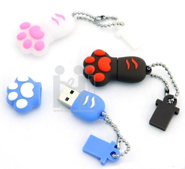 USB Flash Drive แฟลชไดร์ฟเท้าแมว แฟลชไดรฟ์เท้าสุนัข