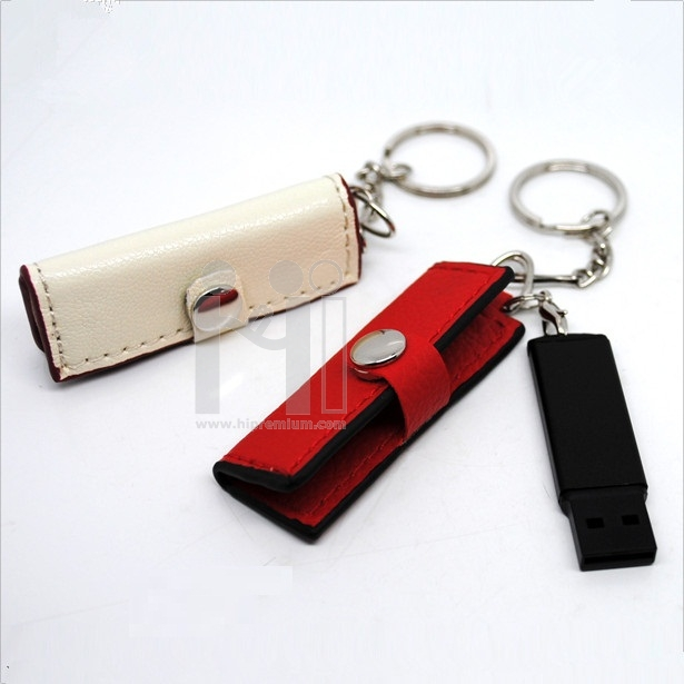 Flash Drive แฟลชไดร์ฟหนังแบบซองปิดกระดุม