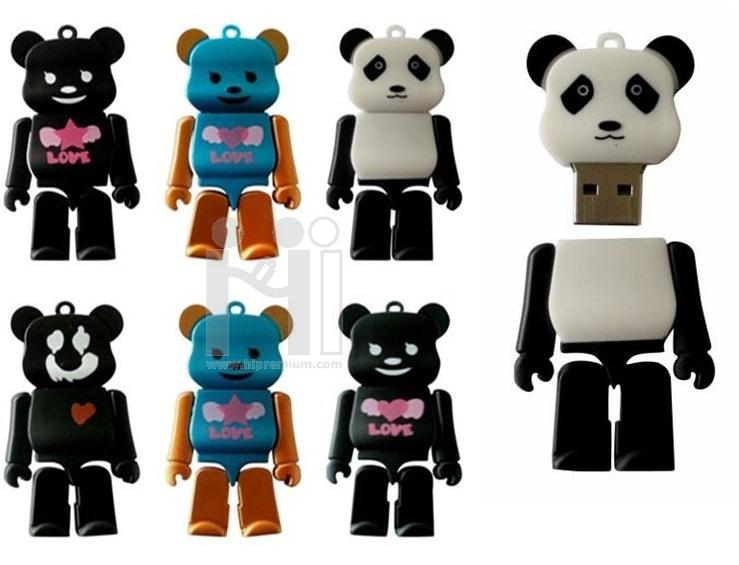 Robot USB  Flash Drive แฟลชไดร1Naหมีแพนด้า แฟลชไดร์ฟหุ่นยนต์โรบอท