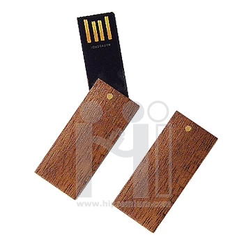 Wooden USB Flash Drive แฟลชไดร์ฟไม้จริง แฟลชไดรฟ์ชิพสลิมบาง