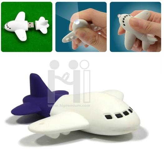 USB Flash Drive With LED lightแฟลชไดร์ฟไฟฉาย รูปเครื่องบิน