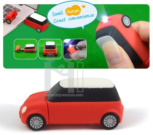 Mini Cooper USB Flash Drive With LED light<br>แฟลชไดร์ฟไฟฉาย รูปรถมินิคูเปอร์