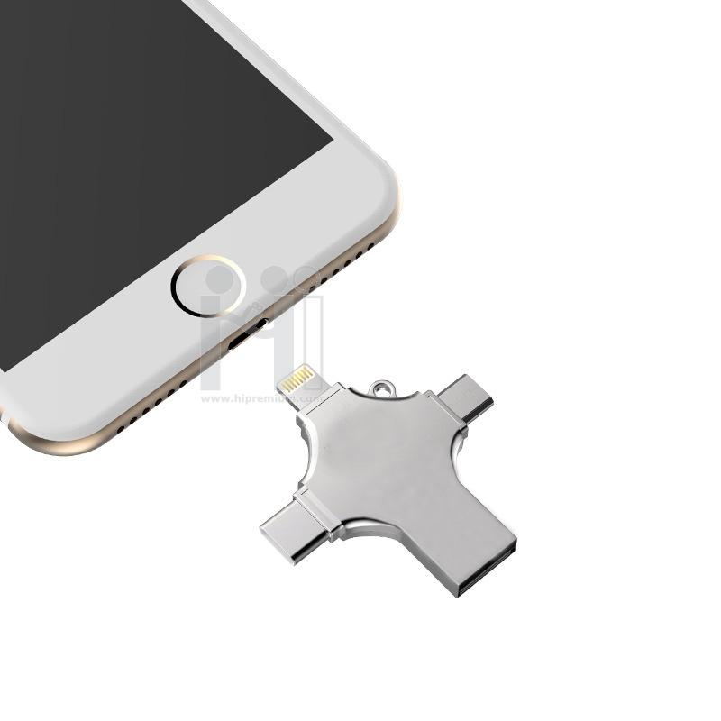 OTG i-Flash Drive 4 in 1แฟลชไดร์ฟเสียบมือถือไอโฟน,ไอแพด,สมาร์ทโฟน