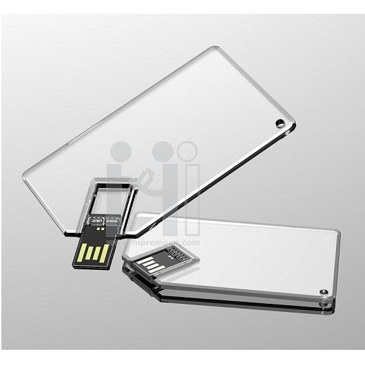 Crystal USB Flash Drive แฟลชไดร์ฟเครดิตการ์ด แฟลชไดรฟ์การ์ดใส