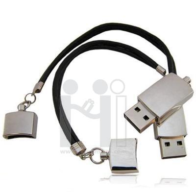 Flash Drive สร้อยข้อมือหนังเทียม แฟลชไดร์ฟสายรัดข้อมือ แฟลชไดร์ฟโลหะ