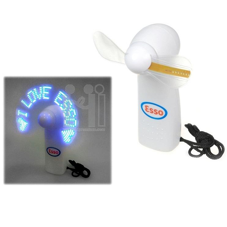 พัดลมมือถือ มีแสงไฟโชว์ข้อความตามสั่งได้  พัดลมพกพาแสดงข้อความ พัดลมข้อความ