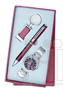 ชุดกล่องของขวัญกิ๊ฟเซ็ท Gift Set<br>นาฬิกา&ปากกา&พวงกุญแจ