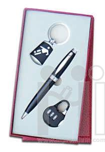 ชุดกล่องของขวัญกิ๊ฟเซ็ท Gift Set<br>แม่กุญแจ&ปากกา&พวงกุญแจ