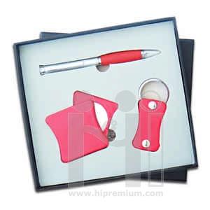 ชุดกล่องของขวัญกิ๊ฟเซ็ท Gift Set<br>กระจก&ปากกา&พวงกุญแจ<br>สั่งขั้นต่ำ 500 ชุด