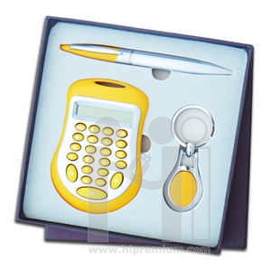 ชุดกล่องของขวัญกิ๊ฟเซ็ท Gift Set<br>เครื่องคิดเลข&ปากกา&พวงกุญแจ<br>สั่งขั้นต่ำ 500 ชุด