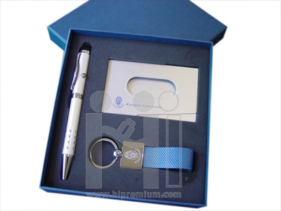 ชุดกล่องของขวัญกิ๊ฟเซ็ท Gift Set<br>ปากกา&พวงกุญแจ&กล่องนามบัตร