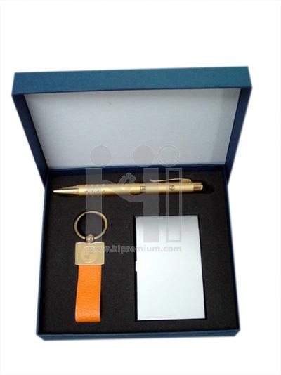 ชุดกล่องของขวัญกิ๊ฟเซ็ท Gift Set<br>ปากกา&พวงกุญแจ&กล่องนามบัตร<br>สั่งขั้นต่ำ 100 ชุด