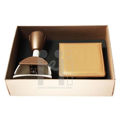 ชุดกล่องกิฟต์เซ็ตแม็กเย็บกระดาษและโพสต์อิท สีทอง