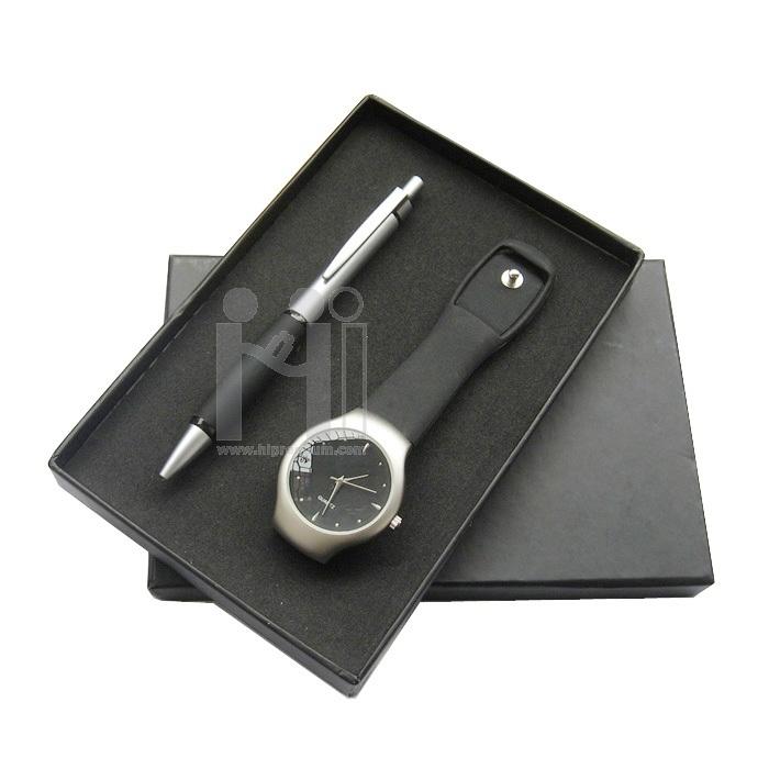 ชุดกล่องของขวัญกิ๊ฟเซ็ท Gift Set<br>นาฬิกาข้อมือ,ปากกา<br>สั่งขั้นต่ำ 500 ชุด