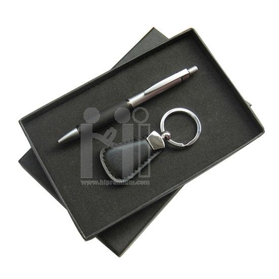 ชุดกล่องของขวัญกิ๊ฟเซ็ท Gift Set<br>ปากกา,พวงกุญแจหนัง