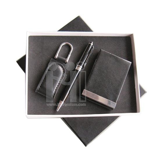 ชุดกล่องของขวัญกิ๊ฟเซ็ท Gift Set<br>กล่องนามบัตร,ปากกา,พวงกุญแจหนัง